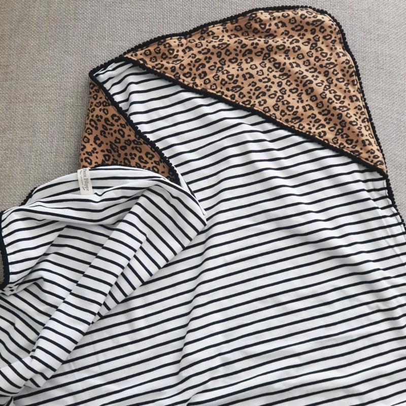 XL Baby Blanket - Leopard & Black Stripes