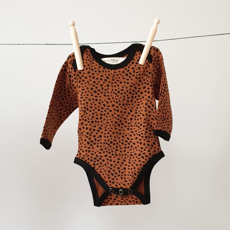 Baby Bodysuit - Long sleeves - Brick Cheetah