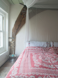 Sprei Cicek, rood/wit 200x240 cm