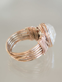 Ring Wire Wrapped Citrien