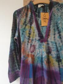 Cofur lange kaftan GOA  van gerycled sari zijde |  Maat S/M