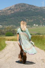 Kimono Ibiza lichtroze aqua