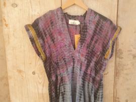 Cofur lange jurk van gerycled sari zijde |  Maat S/M