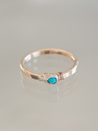 Ring petit | Turkoois | 14k gold-filled