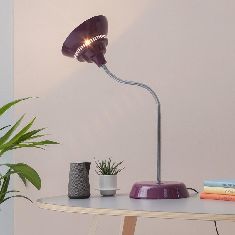 Waterquest tafellamp   Aubergine