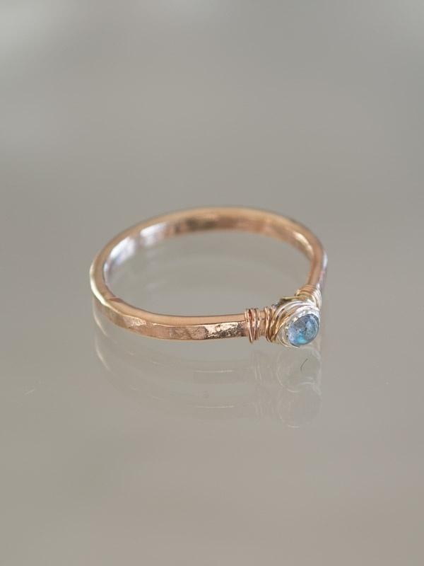 Ring petit   Labradoriet   14k gold-filled