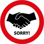 Sorry! Geen handen schudden