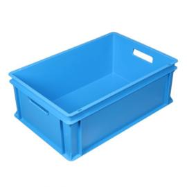 Euronorm bak 40 liter Blauw 600 x 400 x 220 mm open handgrepen
