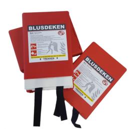 Blusdeken 100x100cm enkellaags in hardbox
