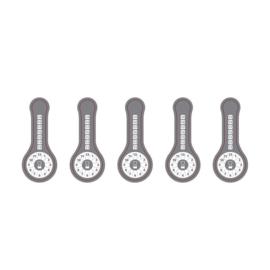 Controlestickers (5 per vel)