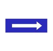 Pijl blauw vierkant