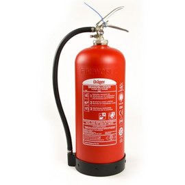 Dräger composiet brandblusser 9 liter schuim