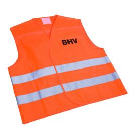 Veiligheidsvest Oranje opdruk BHV in tasje