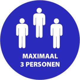 Maximaal 3 personen