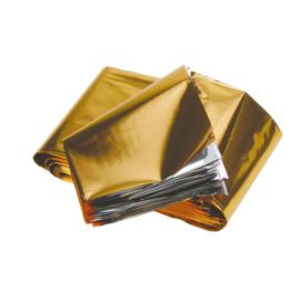 Reddingsdeken Goud/Zilver 210 x 160 cm