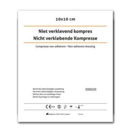 Niet-verklevend kompres 10 x 10 cm