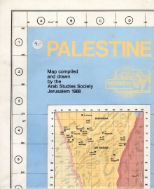 Palestine. Map compiled and drawn by the Arab Studies Society Jerusalem 1988 - schrijver: Arab Studies Society Jerusalem.