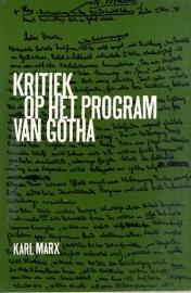 Kritiek op het program van Gotha - schrijver: Karl Marx.