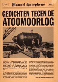 Gedichten tegen de atoomoorlog - schrijver: M. Kneepkens.
