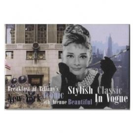 Audrey Hepburn Koelkastmagneet