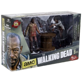 The Walking Dead Deluxe Box Morgan with Impaled Walker and Spike Trap