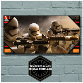 Star Wars The Force Awakens Storm Troopers Battle Glass Poster 50x25 cm