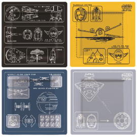 Star Wars Borden Plate Set Blue Prints