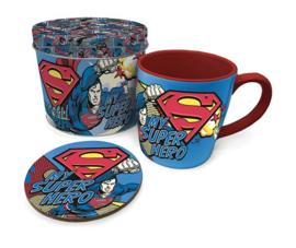 Superman Mug with Coaster - My Super Hero