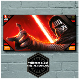 Star Wars The Force Awakens Kylo Face Glass Poster 50x25 cm