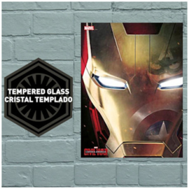 Marvel Civil War Iron Man Helm Glass Poster 41X31 cm