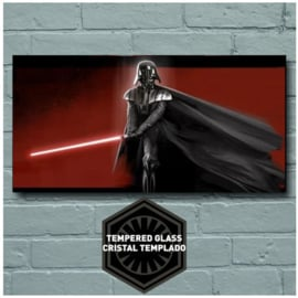 Star Wars Darth Vader Glass Poster 50x25 cm