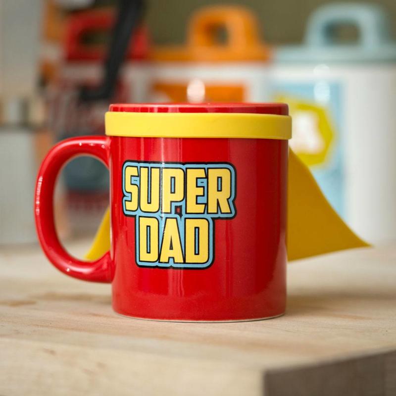 Super Dad Mug (met cape)