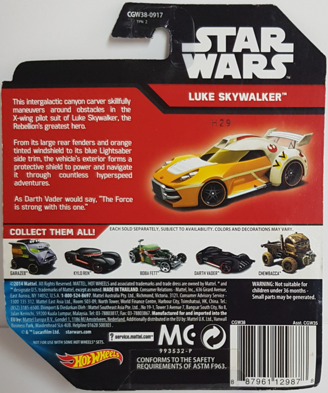 Star Wars Hot Wheels - Luke Skywalker