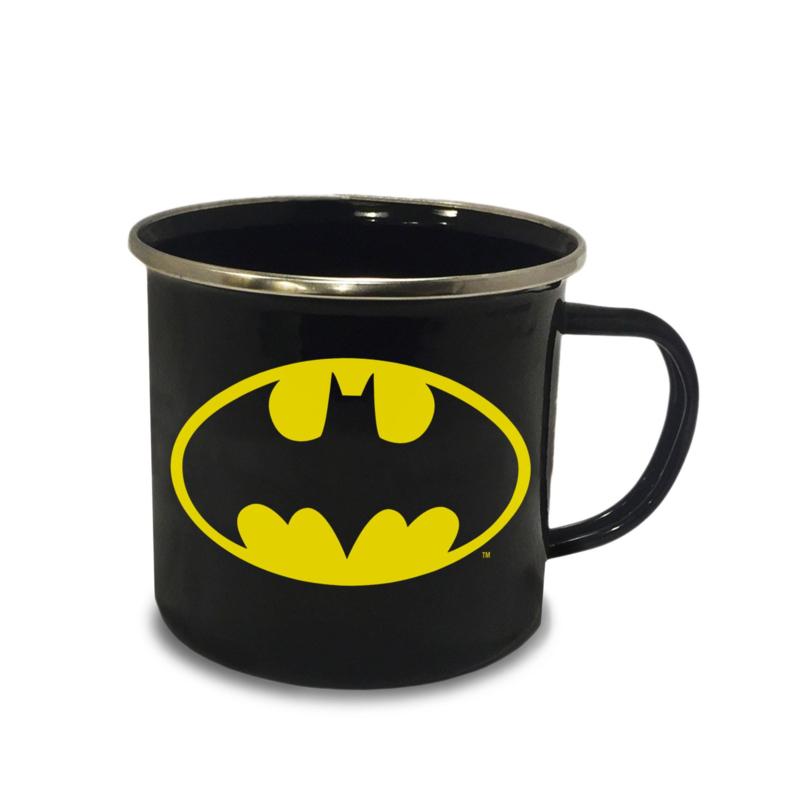 Batman Enamel Mug Logo