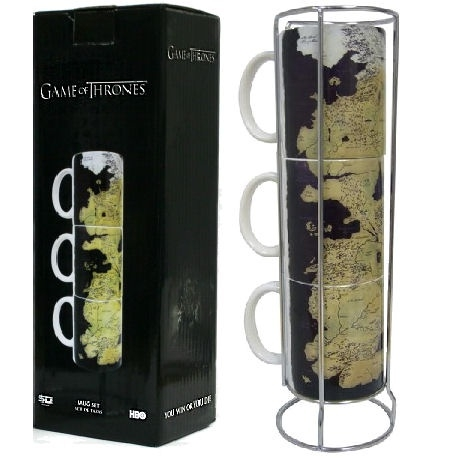 Game of Thrones: Map of Westeros mug set