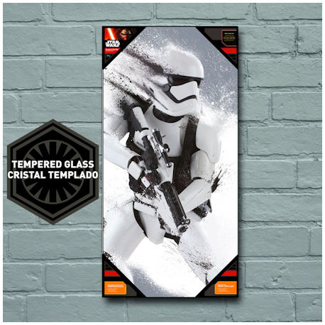Star Wars The Force Awakens Storm Trooper Snow Glass Poster 50x25 cm