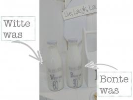 """Glazen fles """"Witte was"""""""