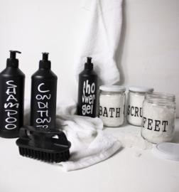 Fles voor Shampoo  WRJ zwart