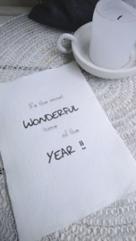 Kaart A5 It's the most  Wonderful time