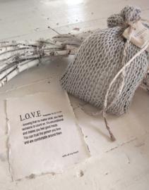 Fresh Linen - Gebreide katoenen buidel