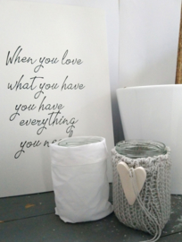 Canvaslijst When you love