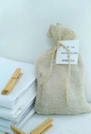 Fresh Linen - Geurbuidel JuteKatoen grof