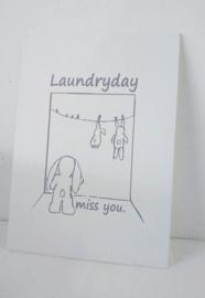 Canvaspaneel Laundry