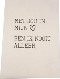 Poster A4 Met jouw in mijn hart