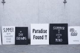 Canvaslijst Summer is my