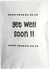 Geursachet Craft wit Get Well soon hartjes