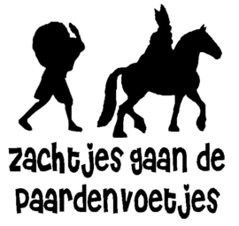 Raamsticker Zachtjes gaan de paardenvoetjes