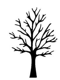 Raamsticker boom klein