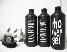 Fles voor Shampoo MF zwart