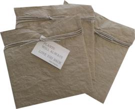 Paper plantbag zand
